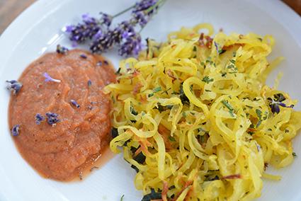 Brennnessel-Kartoffel-Spirelli