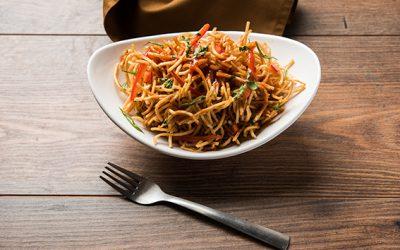 Asiatische Nudeln – gebraten