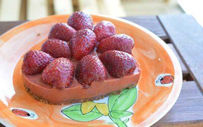 Einfaches Erdbeertörtchen